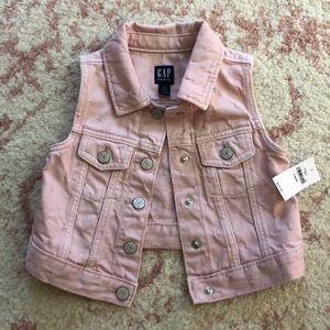 Gap Kids pink crop jean jacket Sz 3 NWT